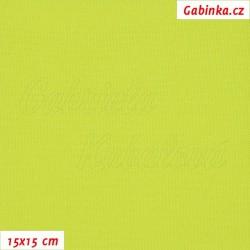 Kočárkovina, Žlutě zelená, MAT 376, šíře 160 cm, 10 cm, Atest 1