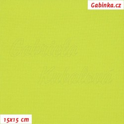 Kočárkovina, žlutě zelená MAT 376, 15x15cm