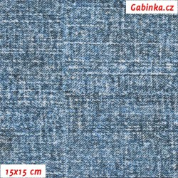 Kočárkovina Premium, Modrošedé Dirty Jeans, šíře 160 cm, 10 cm