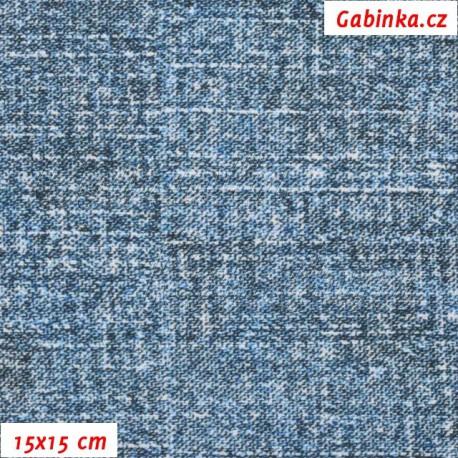 Kočárkovina Premium, Modrošedá Dirty Jeans, 15x15cm