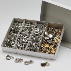 Knoflíky druky stiskací nýtovací na silné látky, AM, 15 mm
