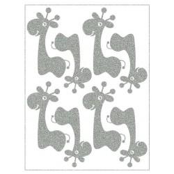 Reflexní nažehlovací postisk, Malé žirafy, 8 ks