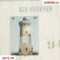 Plátno - Majáky na světlé, šíře 140 cm, 10 cm