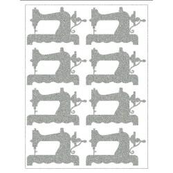 Reflexní nažehlovací potisk - Šicí stroje - doleva (8 ks)