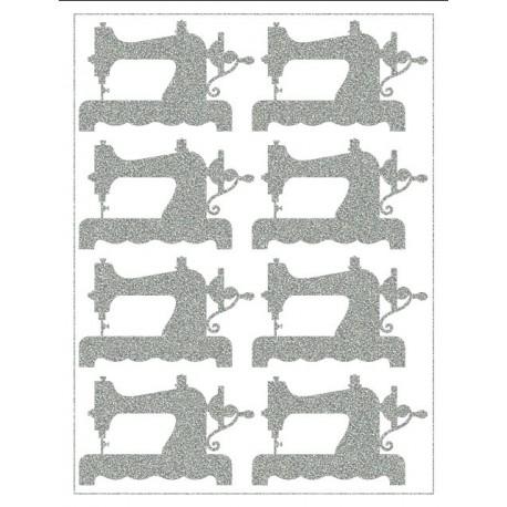 Reflexní nažehlovací postisk, Šicí stroje, 8 ks