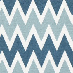 Kanvas - Cik-cak modrý sv. šedomodrý a bílý, šíře 140 cm, 10 cm