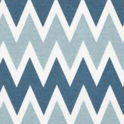 Kanvas, Cik-cak modrý sv. šedomodrý a bílý, 15x15cm