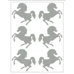Reflexní nažehlovací potisk - Koníci (6 ks)