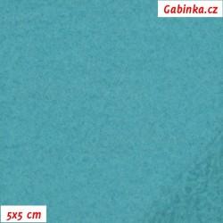 Látka micro fleece antipilling - FLEECE614, modrozelený, šíře 140-155cm, 10cm