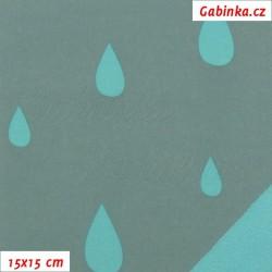 Softshell SP, Kapky sv. zelené na zelenošedé rub sv. zelený, 15x15cm