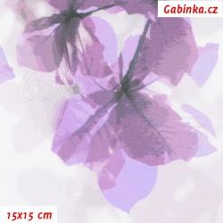 Kočárkovina Premium, Sakura fialová, šíře 160 cm, 10 cm, ATEST 1
