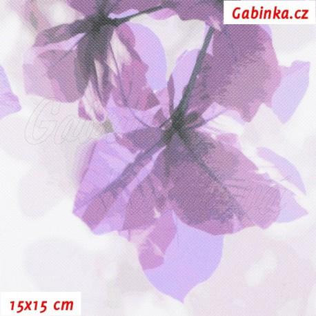 Kočárkovina Premium, Sakura fialová, 15x15cm