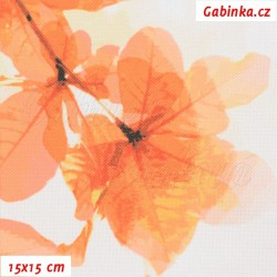 Kočárkovina Premium, Sakura oranžová, 15x15cm
