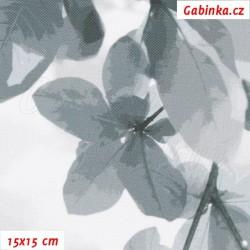 Kočárkovina Premium, Sakura šedá, šíře 160 cm, 10 cm