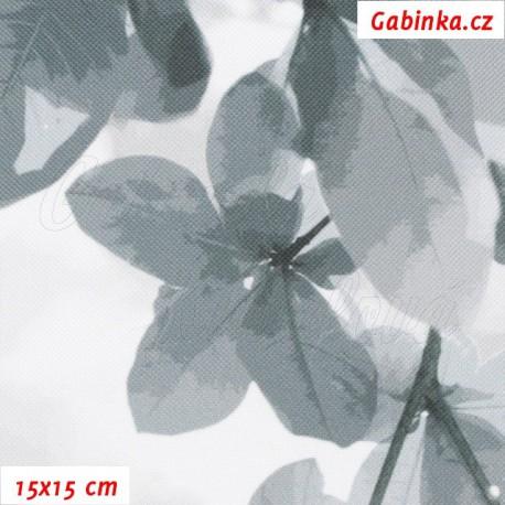 Kočárkovina Premium, Sakura šedá, 15x15cm