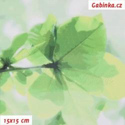 Kočárkovina Premium, Sakura zelená, šíře 160 cm, 10 cm