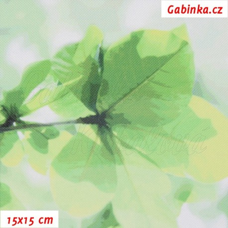 Kočárkovina Premium, Sakura zelená, 15x15cm