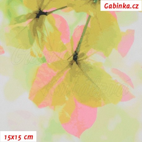 Kočárkovina Premium, Sakura zelenorůžová, 15x15cm