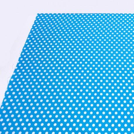 Látka - puntík na modré