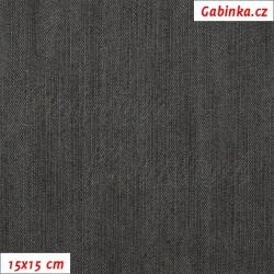 Riflovina, černá, 15x15cm