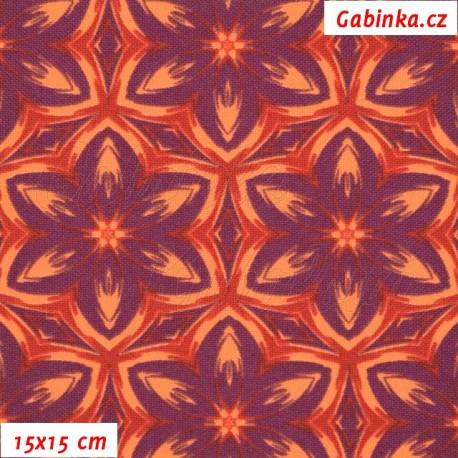 Kočárkovina, Kaleidoskop oranžovofialový, 15x15cm