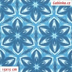Kočárkovina MAT, Kaleidoskop petrolejový, šíře 160 cm, 10 cm, Atest 1