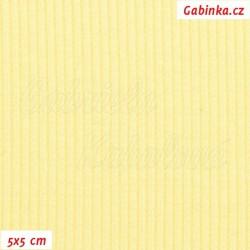 Náplet žebrovaný 2:2, pastelově žlutý, B-002, šíře 120 cm, 10 cm, ATEST 1