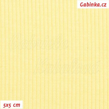 N8plet žebrovaný, pastelově žlutý, 5x5cm