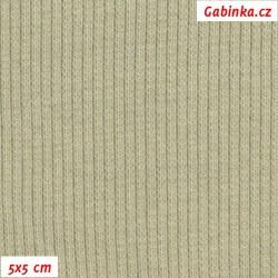 Náplet žebrovaný 2:2, sv. khaki - jilm, B-017, šíře 120 cm, 10 cm, ATEST 1