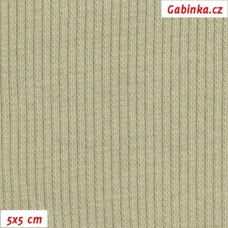 Náplet žebrovaný, sv. khaki - jilm, 5x5cm
