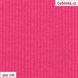 Náplet žebrovaný 2:2, A - tmavě růžový 1011, šíře 120 cm, 10 cm, ATEST 1