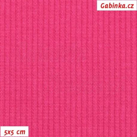 Náplet žebrovaný, tm. růžový - Beetroot Purple, 5x5cm