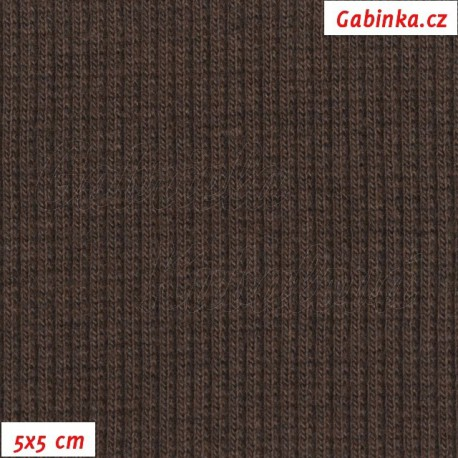 Náplet žebrovaný, hnědý, 5x5cm