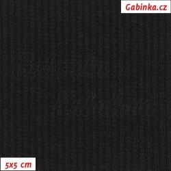 Náplet žebrovaný 2:2, černý, B-200, šíře 120 cm, 10 cm, ATEST 1
