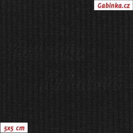 Náplet žebrovaný, černý, 5x5cm