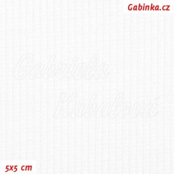 Náplet žebrovaný A 2000 - Bílý, šíře 115 cm, 10 cm, ATEST 1