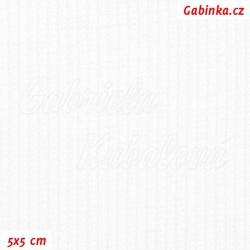 Náplet žebrovaný 2:2, bílý, B-100, šíře 120 cm, 10 cm, ATEST 1