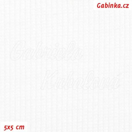 Náplet žebrovaný, bílý, 5x5cm