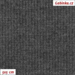 Náplet žebrovaný 2:2, grafit, B-300, šíře 120 cm, 10 cm, ATEST 1
