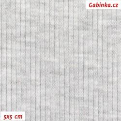 Náplet žebrovaný 2:2, A - světle šedý melír 1005, šíře 120 cm, 10 cm, ATEST 1