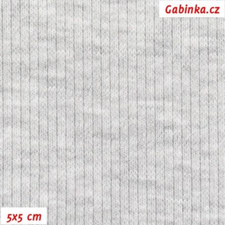 Náplet žebrovaný, melanž, 5x5cm
