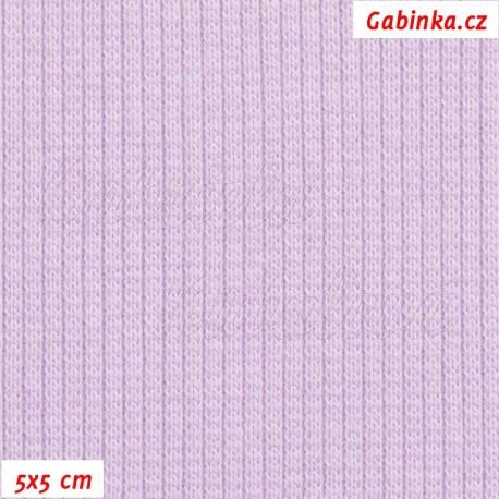 Náplet žebrovaný, sv. fialový, 5x5cm
