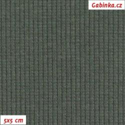 Náplet žebrovaný 2:2, šedozelený, B-025, šíře 120 cm, 10 cm, ATEST 1