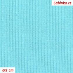 Náplet žebrovaný 2:2, sv. tyrkysový, B-033, šíře 120 cm, 10 cm, ATEST 1