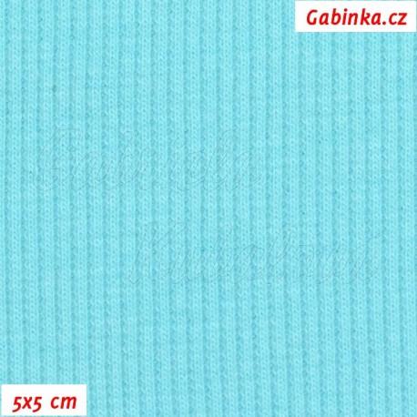Náplet žebrovaný, sv. tyrkysový, 5x5cm