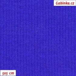 Náplet žebrovaný 2:2, královsky modrý, B-037, šíře 120 cm, 10 cm, ATEST 1