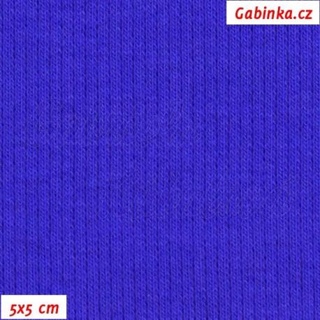 Náplet žebrovaný, královsky modrý, 5x5cm