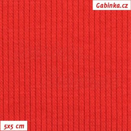 Náplet žebrovaný, červený, 5x5cm