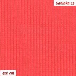 Náplet žebrovaný 2:2, růžový - Paradise Pink, B-117, šíře 120 cm, 10 cm, ATEST 1