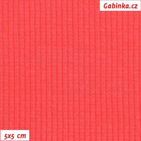 Náplet žebrovaný, růžový - Paradise Pink, 5x5cm